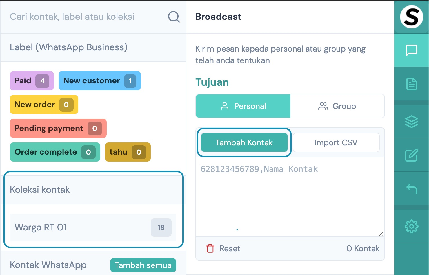 Contact Picker – Sebaran