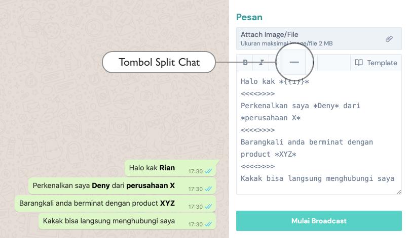 Split-Chat – Sebaran
